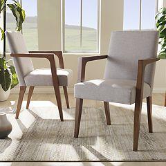 Baxton Studio Andrea Mid-Century Accent Chair 2-piece Set