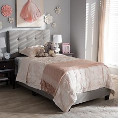 Baxton Studio Brookfield Tufted Twin Bed