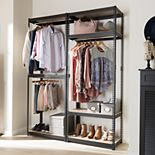 Baxton Studio Gavin 5-Shelf Garment Rack
