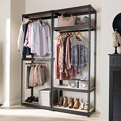 Baxton Studio Gavin 5-Shelf Garment Rack
