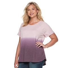 Plus Size SONOMA Goods for Life™ Supersoft Short Sleeve Top