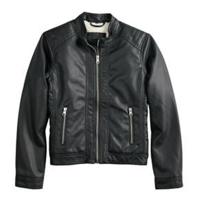 Girls 4-14 Me Jane Sherpa-Lined Midweight Biker Jacket