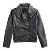 Girls 7-14 Me Jane Metallic Moto Jacket