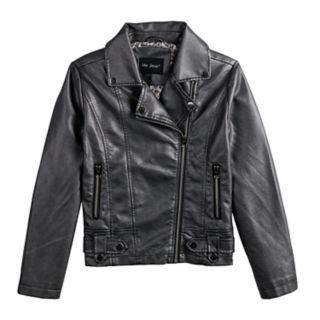 Girls 7-14 Me Jane Metallic Moto Jacket