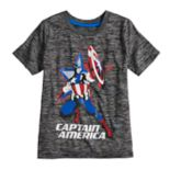 Boys 4-10 Jumping Beans® Marvel Captain America Marled Active Tee