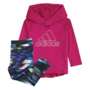 Girls 4-6x adidas Intense Energy Hooded Top & Tie-Dye Leggings Set