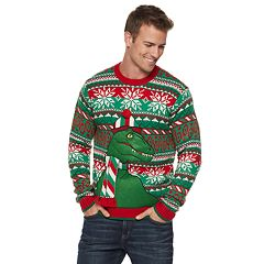 Men's Raptor Christmas Sweater