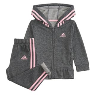Girls 4-6x adidas Sparkle French Terry Jacket & Pants Set
