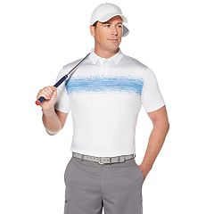 Men's Grand Slam On Course Slim-Fit Chest-Striped Golf Polo