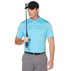Men's Grand Slam Placement Regular-Fit Striped Golf Polo