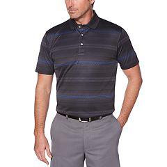 Men's Grand Slam Regular-Fit Jacquard Striped Performance Golf Polo