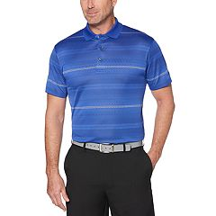 Men's Grand Slam Regular-Fit Jacquard Striped Performance Golf Polo