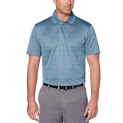 Men's Grand Slam Driflow Regular-Fit Windowpane Performance Golf Polo