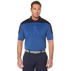 Men's Grand Slam On Course Colorblock Heathered Performance Golf Polo