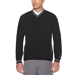 Men's Grand Slam Regular-Fit Water-Repellent Stretch V-Neck Golf Pullover