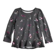 Toddler Girl Jumping Beans® Graphic Peplum-Hem Tee