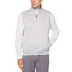 Men's Grand Slam Water Repellent Fleece Quarter-Zip Golf Vest