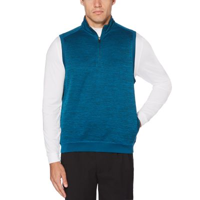 Men's Grand Slam Water-Repellent Fleece Quarter-Zip Golf Vest