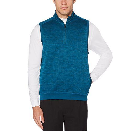 Men's Grand Slam Water-Repellent Fleece Quarter-Zip Golf Vest