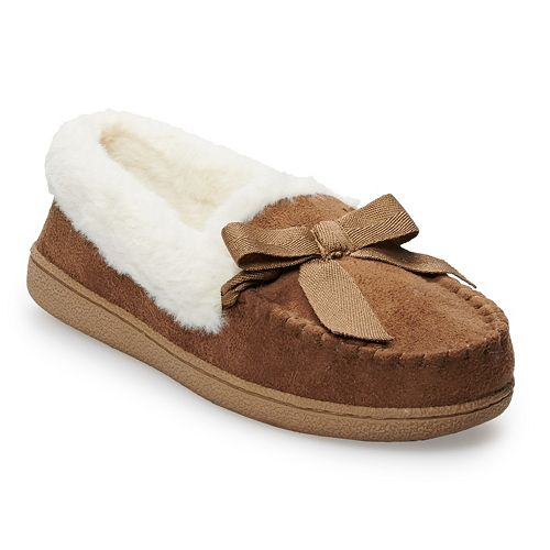 f56f33740d59 Women s SONOMA Goods for Life™ Basic Microsuede Moccasin Slippers
