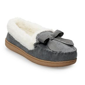 Women's SONOMA Goods for Life? Basic Microsuede Moccasin Slippers
