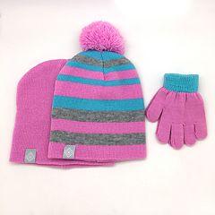 Toddler Girl Hat & Gloves Set