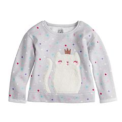Toddler Girl Jumping Beans® Softest Fleece Plush Graphic Sweatshirt