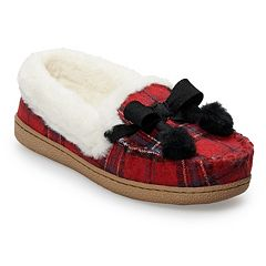 Women's SONOMA Goods for Life™ Plaid Flannel Moccasin Slippers