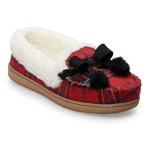 07bf1e7699865 Women's SONOMA Goods for Life™ Plaid Flannel Moccasin Slippers