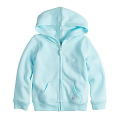 Toddler Girl Jumping Beans® Glittery Heart Softest Fleece Hoodie