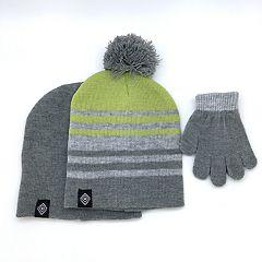 Toddler Boy Hat & Gloves Set