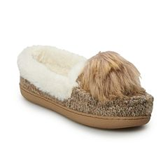 Women's SONOMA Goods for Life Sweater Knit Moccasin Slippers