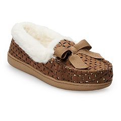 Women's SONOMA Goods for Life™ Perforated Microsuede Moccasin Slippers