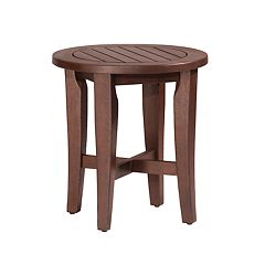 Hillsdale Furniture Preston Eucalyptus Round Vanity Stool