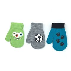 Toddler Boy 3-pack Mittens