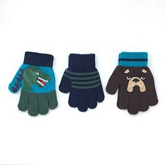 Toddler Boy 3-pack Gripper Gloves