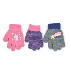 Toddler Girl 3-pack Grip Gloves