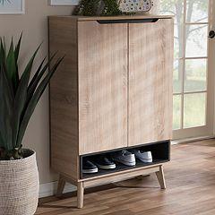 Baxton Studio Fella Shoe Cabinet