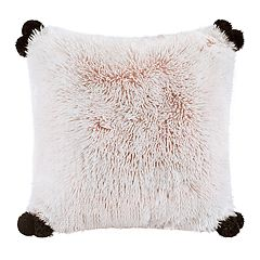 Intelligent Design Emma Shaggy Faux Fur Throw Pillow