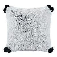 Intelligent Design Emma Shaggy Faux Fur Throw Pillow