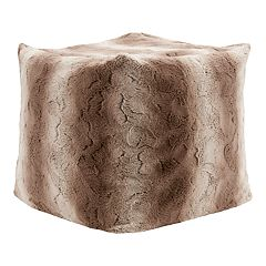 Madison Park Marselle 18' x 18' Tie Dye Faux Fur Pouf