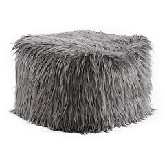 Madison Park Edina 18' x 18' Eyelash Faux Fur Pouf