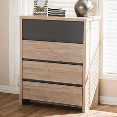 Baxton Studio Jamie 4-Drawer Dresser
