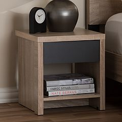 Baxton Studio Jamie 1-Drawer Nightstand
