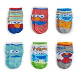 Toddler Boy Sesame Street Elmo & Cookie Monster 6-pack Quarter-Cut Socks