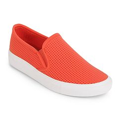 Wanted Women's Perforated Slip-On Sneakers