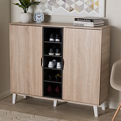 Baxton Studio Adelina 2-Door Shoe Cabinet