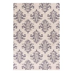 KAS Rugs Gray Damask Rug