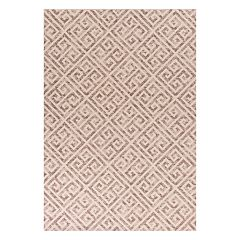 KAS Rugs Taupe Greek Key Rug