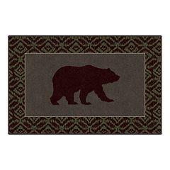 Brumlow Mills Cabin Bear Lodge Printed Rug